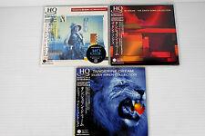 TANGERINE DREAM ~ JAPAN MINI LP CD HQ-CD LOT 3 ALBUMS, ORIGINAL, RARE, OOP