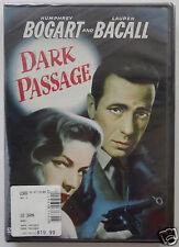 DARK PASSAGE [DVD] NEW Sealed, Humphrey Bogart, Lauren Bacall 1947 Noir Thriller