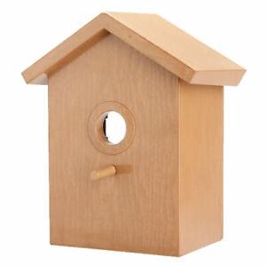 Window Mounted Spy Birdhouse Nesting Box Feeding Nature Bird Wren Watching House