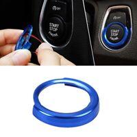 BMW Start Stop Schalter Zündung Ring Abdeckung Start/Stop Cover Alu Knopf M Blau