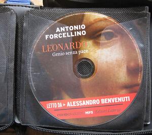 Audiolibro audiobook cd MP3 LEONARDO genio senza pace  ANTONIO FORCELLINO usato