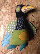 Spieluhr wie neu aus FrankreichMoulin Roty Vogel Patchwork Stoff bunt