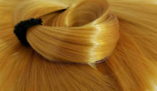 TDP Midas Touch Brassy Blonde Doll Hair Hank for Rerooting Dolls and Ponies