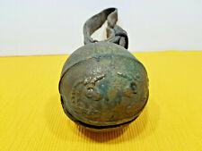 Joli ancien grelot pour cheval en bronze, licornes, relais poste