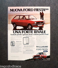 [GCG]  P433 - Advertising Pubblicità -1976- NUOVA FORD FIESTA 900 , FORTE RIVALE