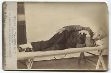 CABINET CARD HENRY S. TANNER, M.D. AFTER 14 DAY FAST. CLARENDON HALL, N.Y.