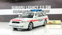Scale model car 1:43, Subaru Legacy Swiss Police 1989