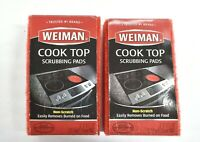 Lot of 2 Weiman Cooktop Scrubbing Cleaning Ceramic Glass Cooktop Cleaner Pads