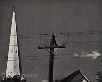 1946/72 Vintage 11x14 MANCHESTER VERMONT Electric Pole Sky Art BY ANDRE KERTESZ