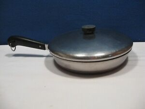 REVERE WARE 10 Inch Fry Pan WITH LID 1801 Needs some TLC