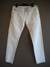 """JACOB COHEN Premium """"James"""" handmade soft white jeans size 40 NEW with tags"""