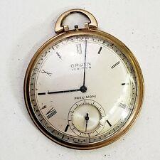 Gruen Veri-Thin Precition. Missing Crown. Rare Vintage sirca 1940 Pocket Watch