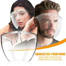 1PCS Clear Full Cover Face Shield Glasses Safety Protector Reusable Anti-fog