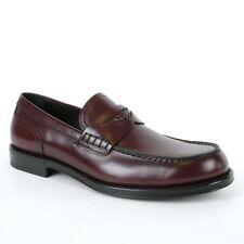 $940 Bottega Veneta Men's Dark Burgundy Leather Loafer Dress Shoe 496903 2240