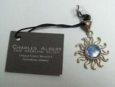 CHARLES ALBERT Sterling & LAPIS SUN Pendant - w/ tag