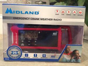 COMPACT EMERGENCY Crank NOAA Radio Solar MIDLAND ER210 Weather Alert MULTI-POWER