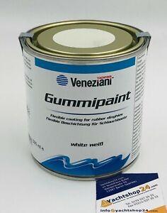 (51,80€/L) Veneziani Gummipaint Schlauchbootfarbe Gummifarbe, Rubberpaint: weiss