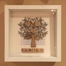 Family Tree Photo Frame Personalised Gift Birthday Wedding Mothers Day Handmade
