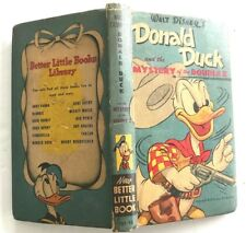 "1949 Walt Disney's DONALD DUCK Mystery of the Double X ""New Better Little Book"""
