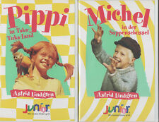 Pippi Langstrumpf und Michel in der Suppenschüssel 2er SET Gebraucht - Wie neu