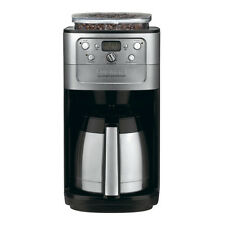 Black and Chrome 12-Cup Thermal Carafe Programmable Coffee Maker with Grinder