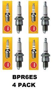 NGK BPR6ES Standard Spark Plug #7131 (4 PACK)
