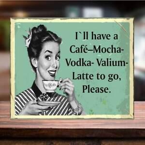 Metal Vintage Vodka mum Man Cave Cafe Bar Pub Shed Kitchen Gift Wall Sign Coffee