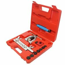 SAE / MM Double Single Flaring Brake Line Tool Kit w/ Mini Pipe Cutter Car Truck