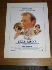 "DOSSIER DE PRESSE SYNOPSIS DU FILM ""LE FIL DU RASOIR"" / BILL MURRAY / TB ETAT"