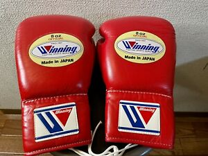 Winning Boxing  Used Fight Gloves 8oz Ted MS-200 Made In Japan