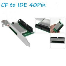 """CF Flash Card to 40 Pins IDE 3.5"""" Male Adapter with PCI Bracket"""