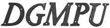 """Door / House 3-1/4"""" Letters in Black Cast Iron A-Z Ideal for House Signs (AB453)"""
