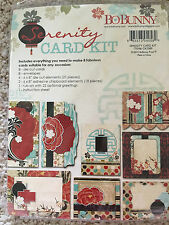 Bo Bunny Serenity Card Making Kit Flowers Dots Makes 8 Cards