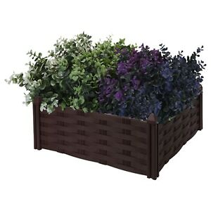 Raised Garden Flower Bed Planter Plant Pot Gates Vegetable Herb Box Tray Frame
