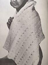 """F Knitting Pattern - 2-ply Lace Stole / Wrap / Shawl - 19x54"""""""