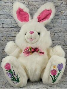 "Hoppy Hoppster Easter Bunny Rabbit PLUSH 14"" Tall Stuffed Animal TB TOY TRADING"