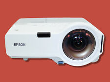 Used Epson PowerLite 410W Short-Throw Projector 2000 Lm HD 1080i bundle w/Remote