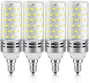 16W E12 LED Corn Bulbs, 1500LM Warm White 3000K Candelabra Light Bulbs, 100W Equ