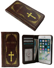 For iPhone 6 6S Holy Bible Classic Vintage Old Book Style Card Wallet Case Cover