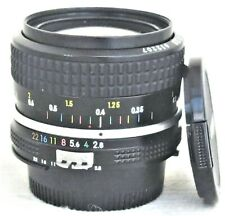 Nikon Nikkor 28mm f/2.8 MF Wide Angle Ai Lens Excellent No. 612207
