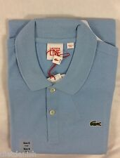 Lacoste L!ve Live Men Polo Shirt ULTRASLIM FIT Lagon Baby Blue Size EU 8 US XXL