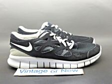 Women's Nike Free Run+ 2 Black White Anthracite Running Shoes 443816-001 sz 8.5