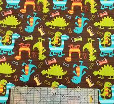 Michael Miller Dino-Dudes Dinosaurs Brown Fabric