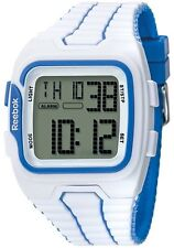Reebok Men's Workout SZ1 Digital Watch White with Blue RF-WS1-G9-PWPW-WL. No Box