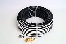 Druckluftschlauch 6 mm x 2,5 mm 50 m + 1x Kupplungssatz schwarz Luftschlauch