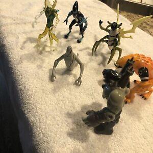 Rare Lot of 6 BEN 10 Alien Action Figures 06-07 Wildmutt, Ghost Freak,Wild Vine