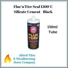 Silicate Cement Flue Seal Silicone 1500°C Fire Proof Sealant Stove - Black