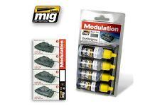 AMMO OF MIG A.MIG-7001 Acrylic Paint Set (4 jars) Dunkelgrau Modulation Set 17ml