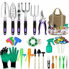 Tudoccy Garden Tools Set 51 Piece, Succulent Tools Set Included, Heavy Duty Alum