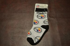NWT NFL Team Pittsburgh Steelers Baby Infant Socks Size 8-13 Stretch Free Ship